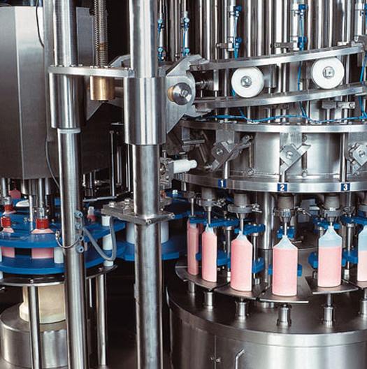 Máquina enchedora de garrafas